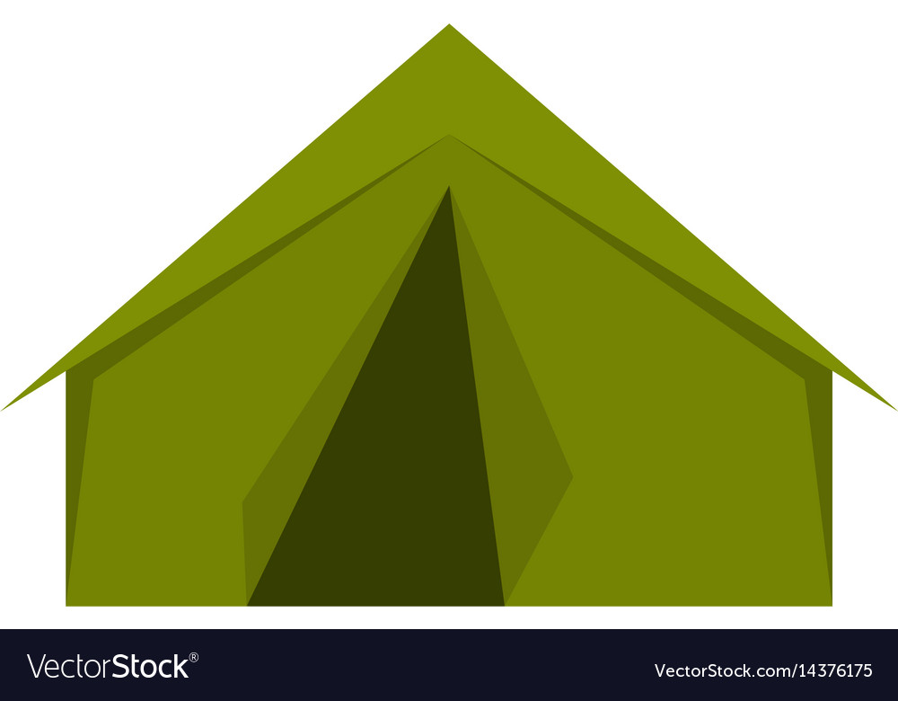 Tourist or a military tent icon isolated vector image