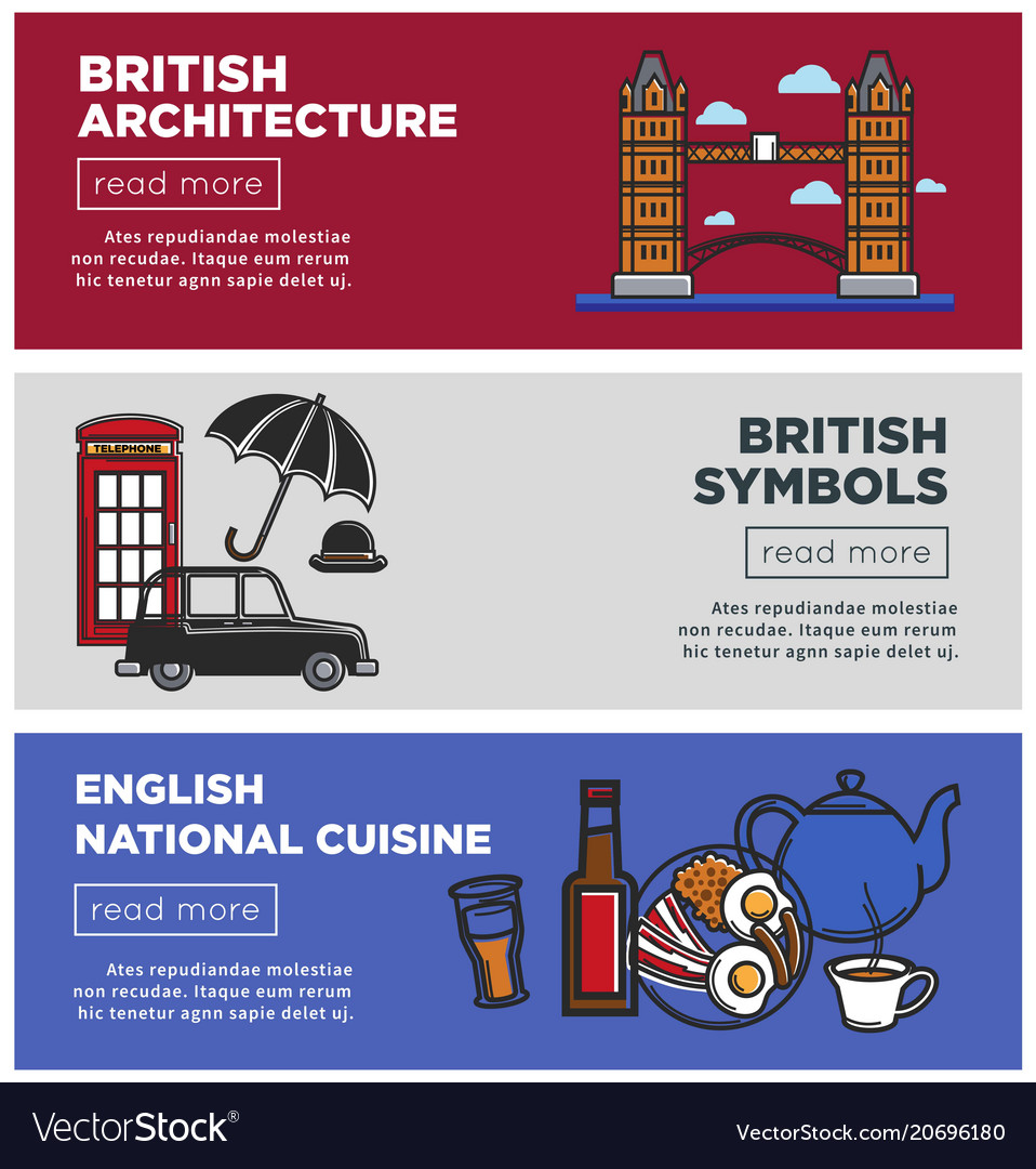 British architecture and national cuisine on web