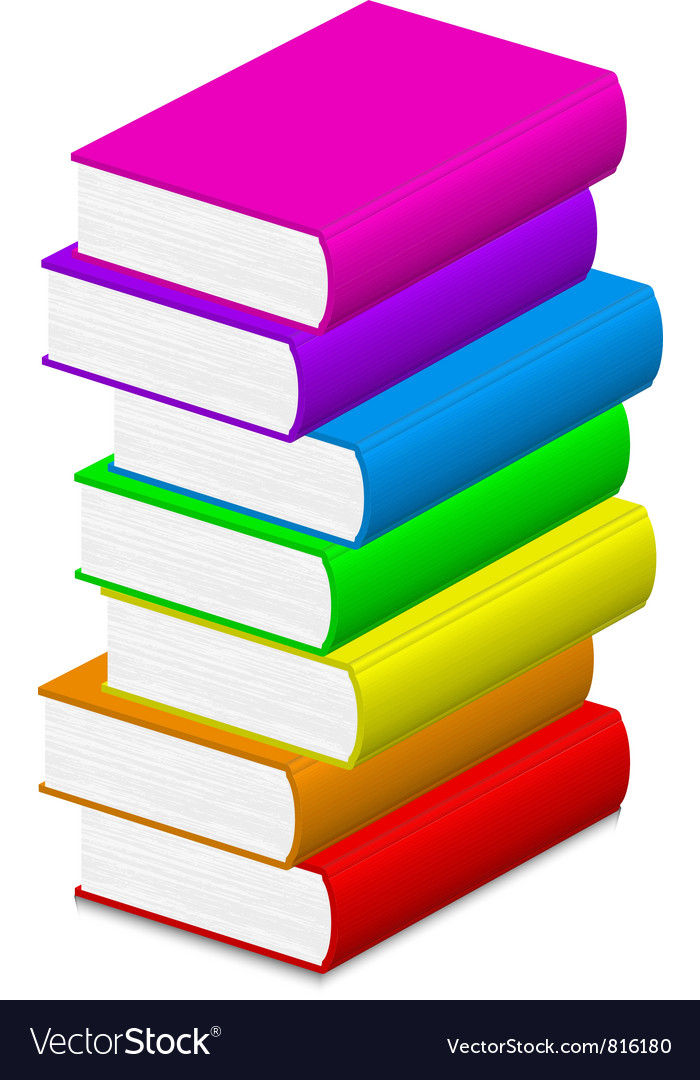 Colorful books Royalty Free Vector Image - VectorStock