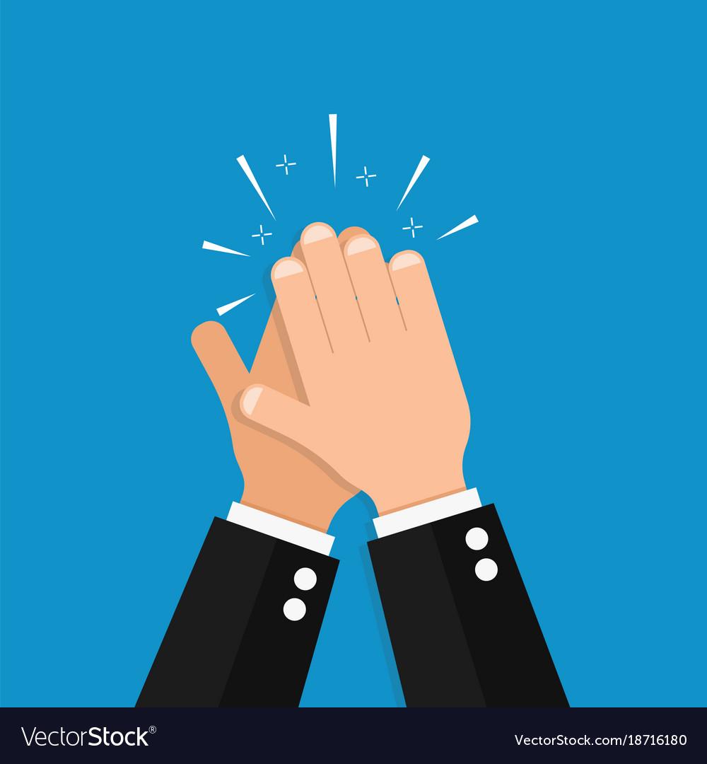 hand clap success royalty free vector image vectorstock