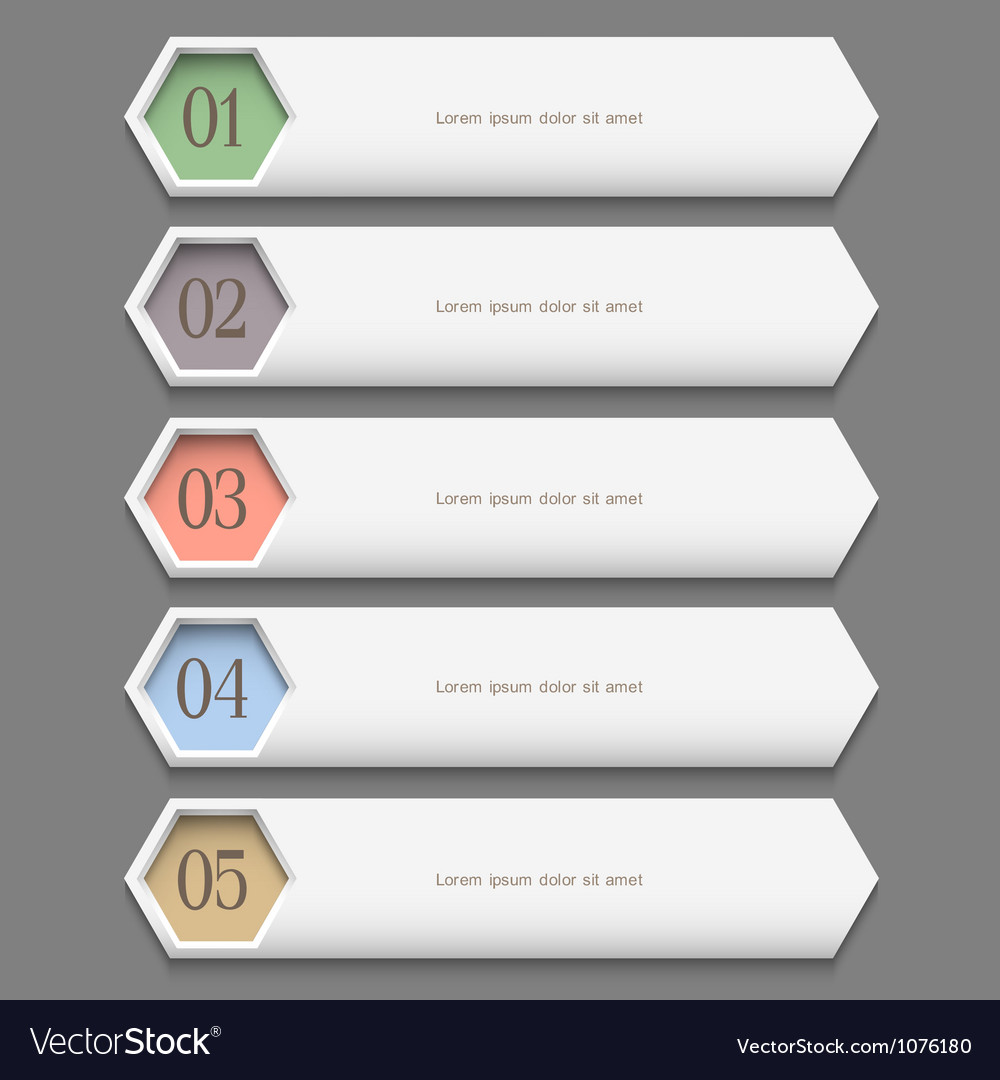 Horizontal trendy Design template