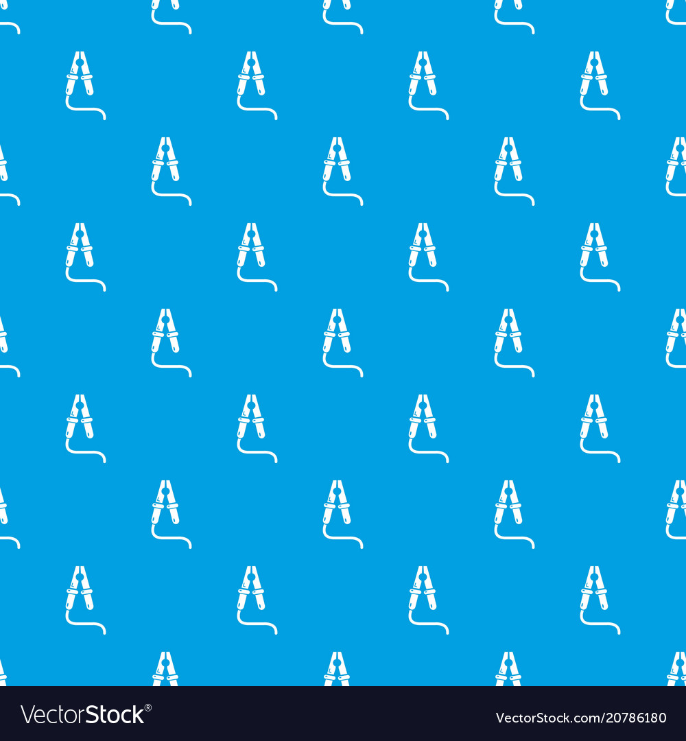 Jumper cable pattern seamless blue vector image