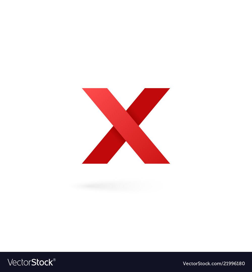 Letter X Logo Alphabet On White Background Vector Image