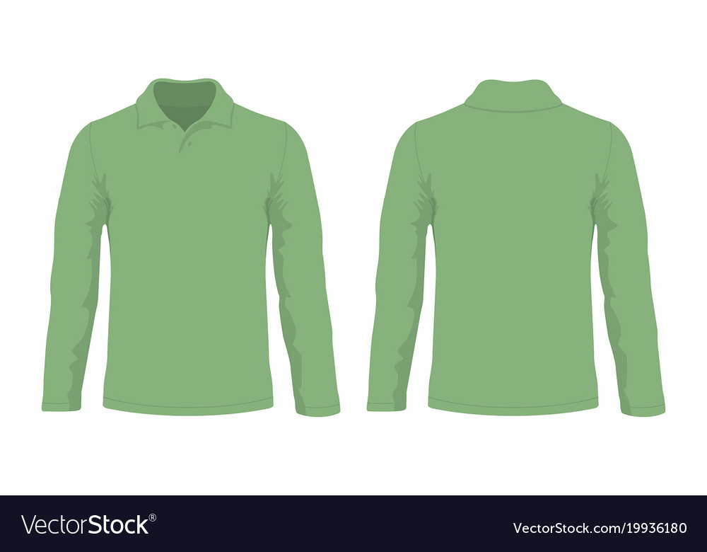 fb8fee78 Mens green long sleeve t shirt Royalty Free Vector Image