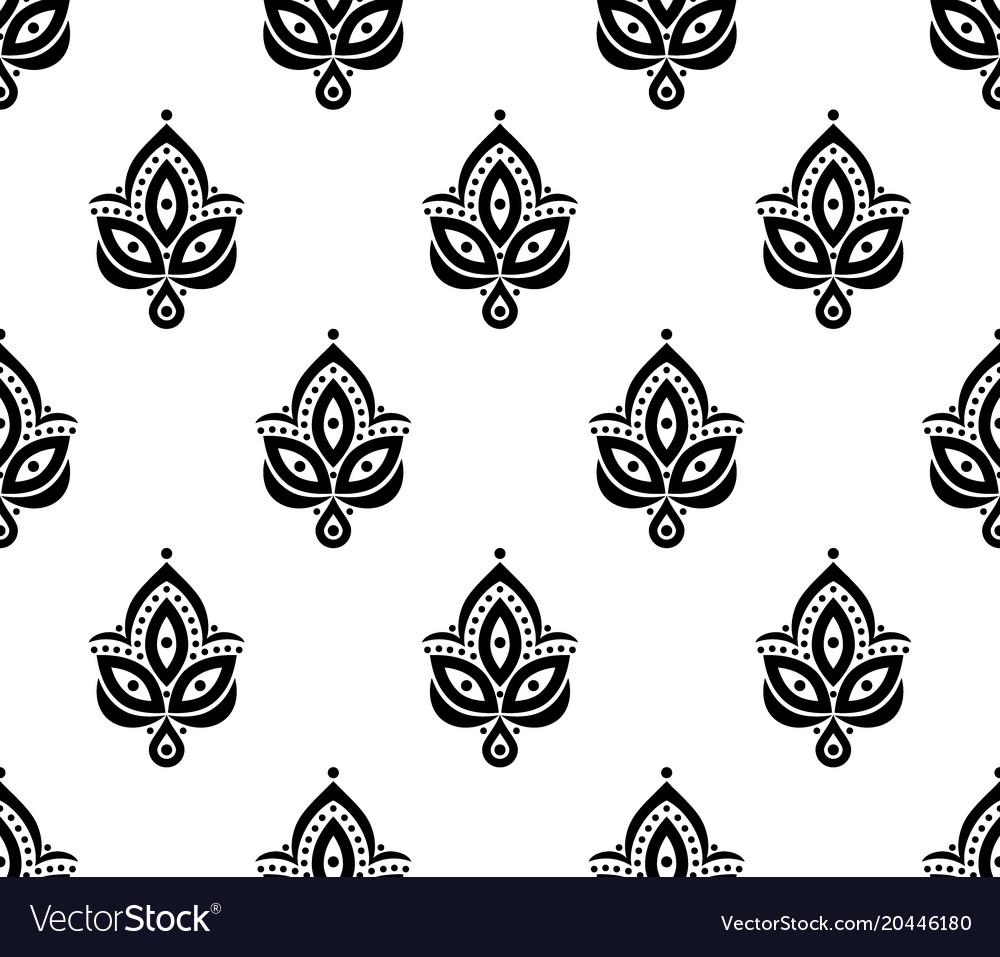 Ornamental seamless floral element pattern