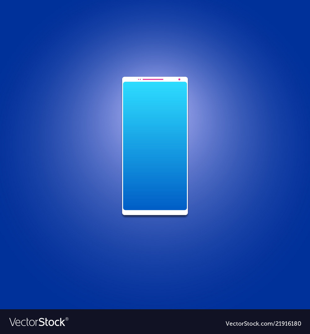 Smartphone without frames big screen on a blue