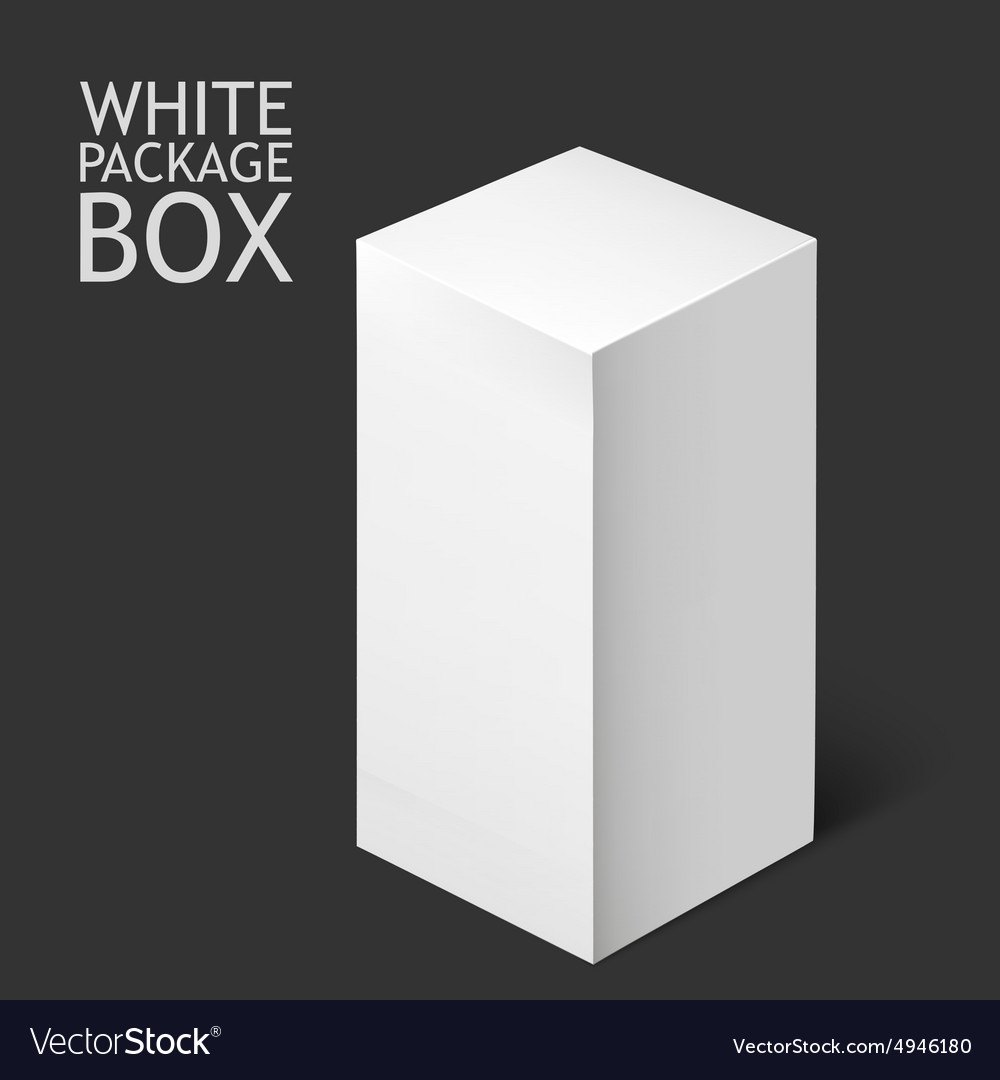 White Package Box Mockup Template Royalty Free Vector Image