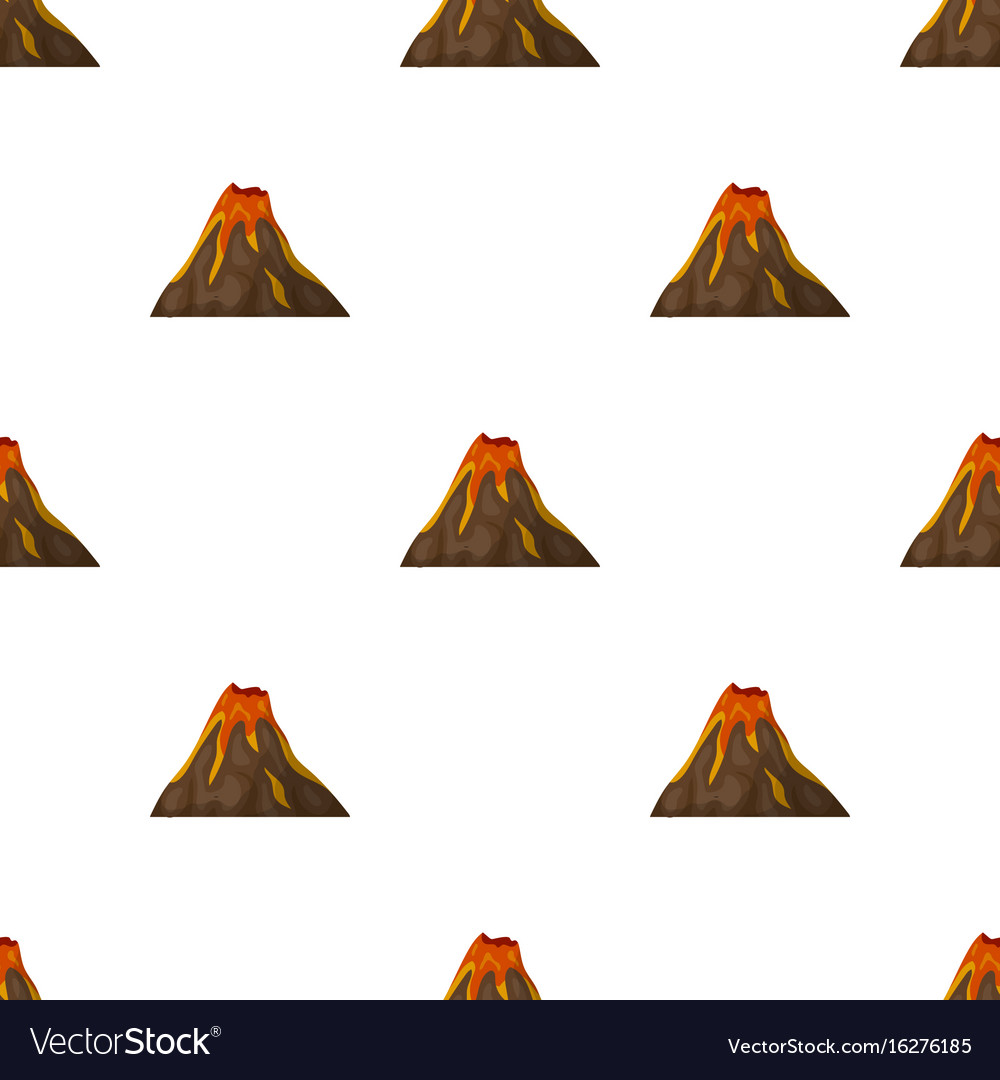 A fiery volcanoa mountain in which there is a