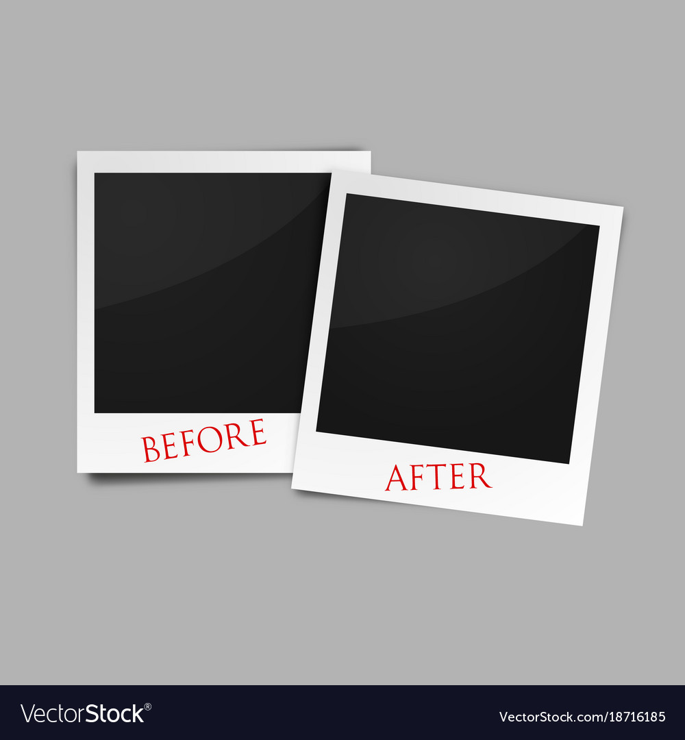 Before And After Photo Frames Royalty Free Vector Image