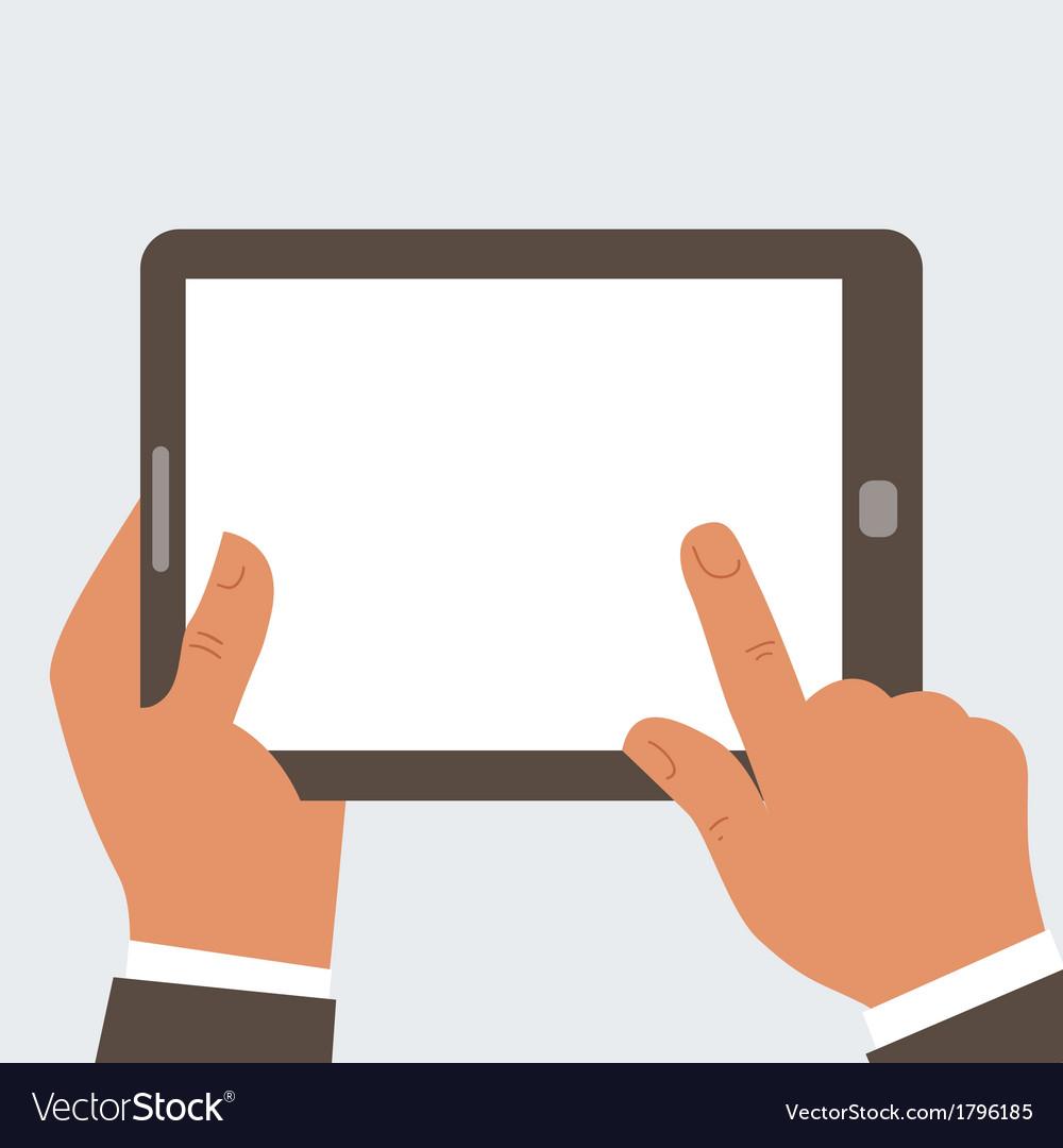 Businessman holding tablet computer