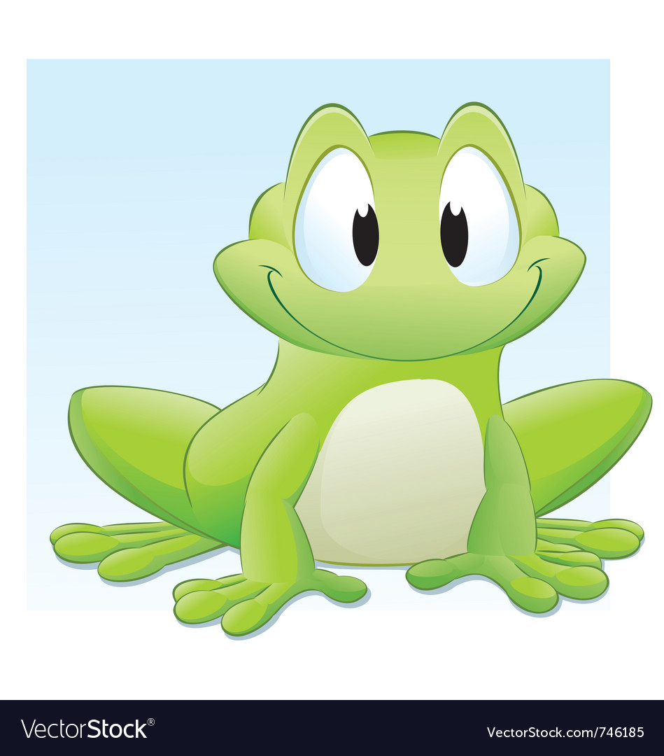cartoon frog royalty free vector image vectorstock