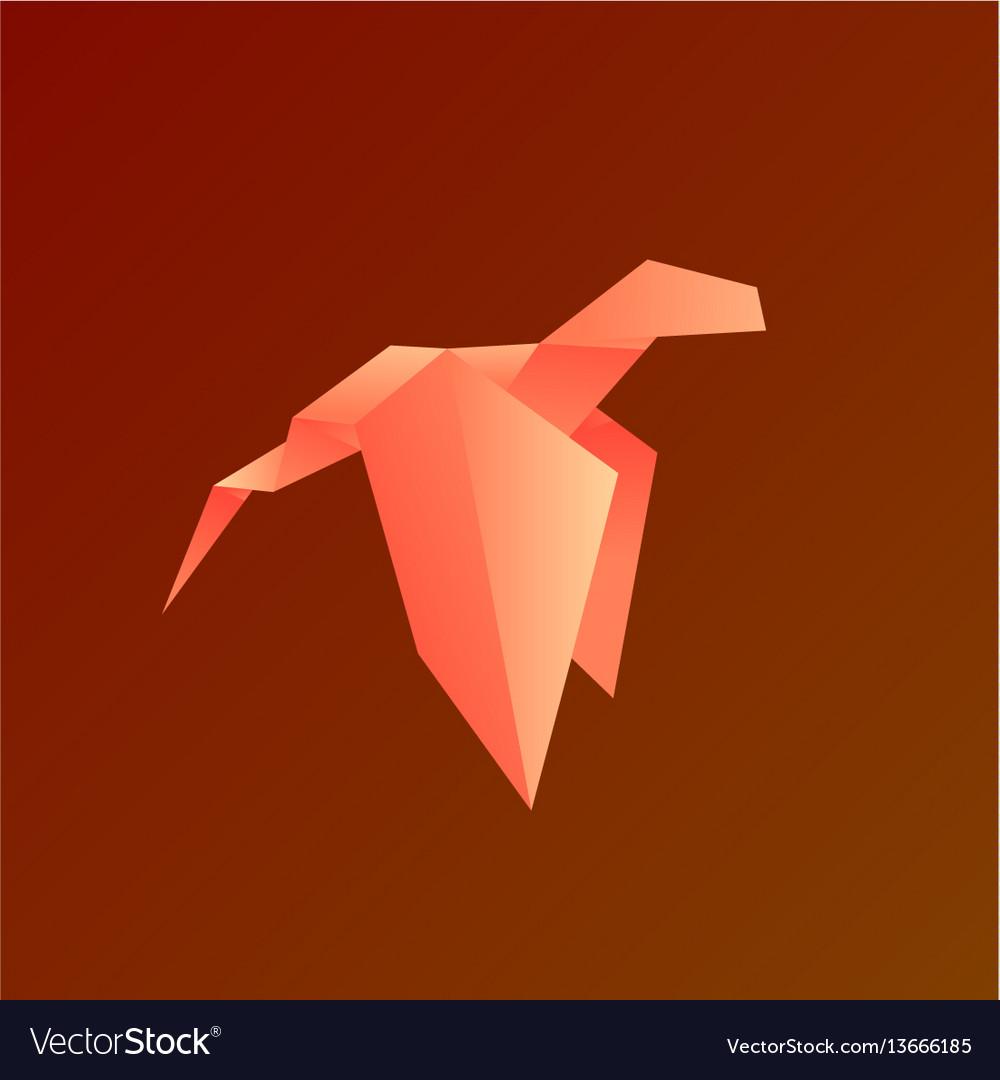 Dragon gradient animals origami