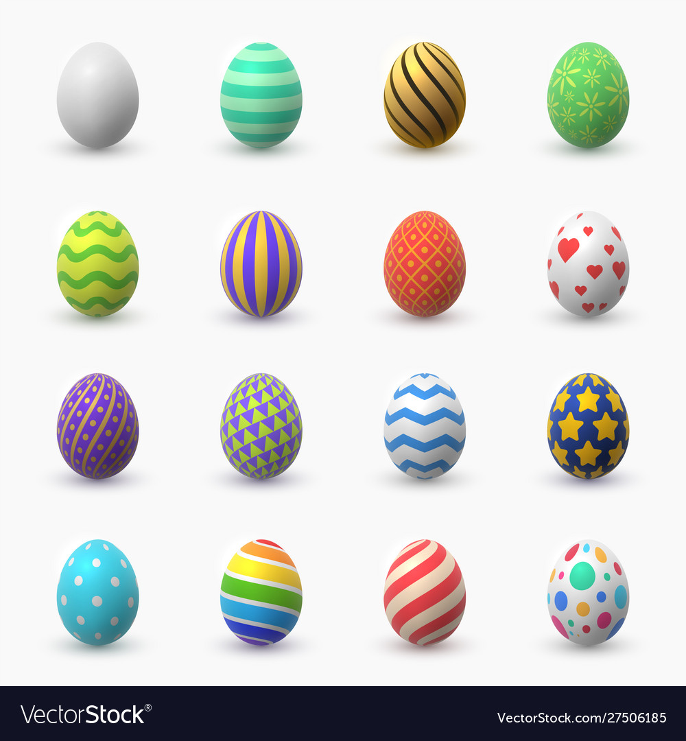 Easter eggs 3d color