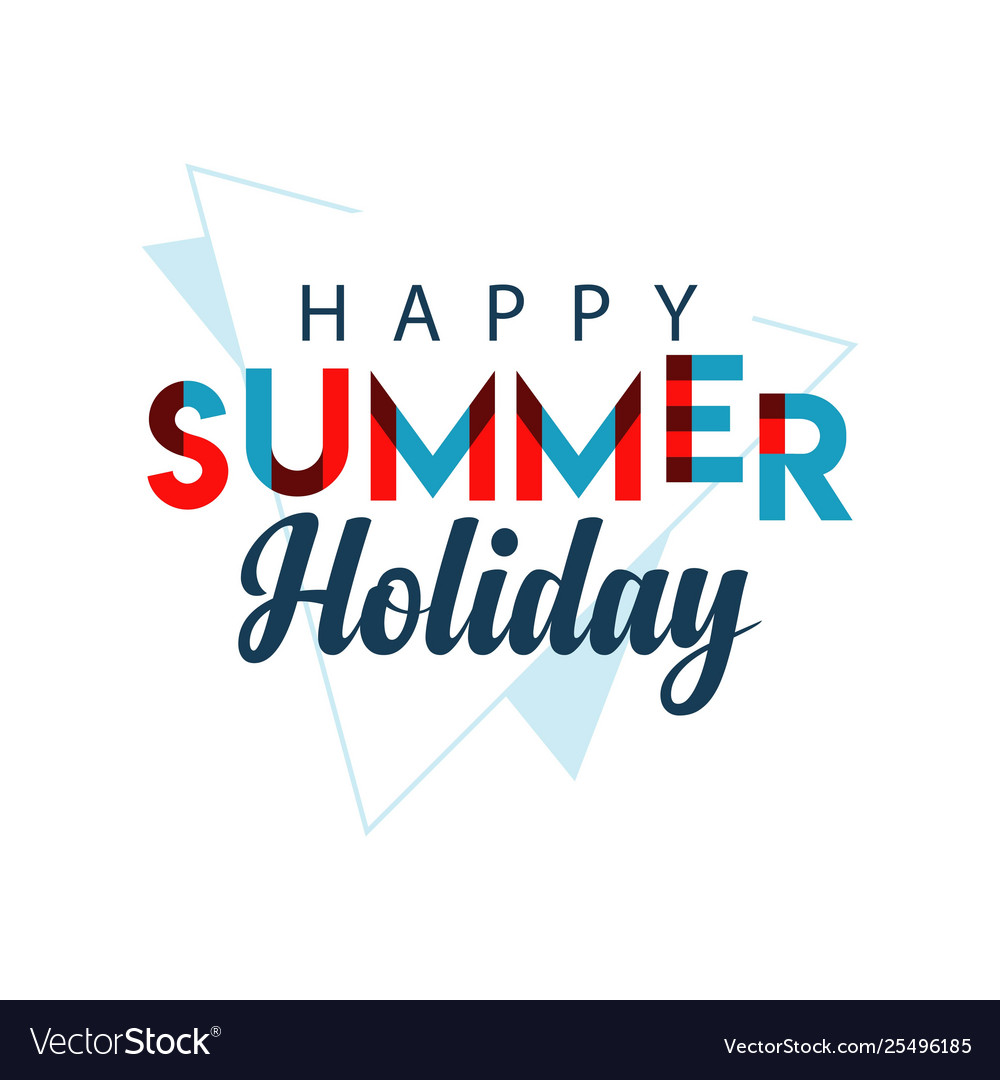 Happy summer holiday template design
