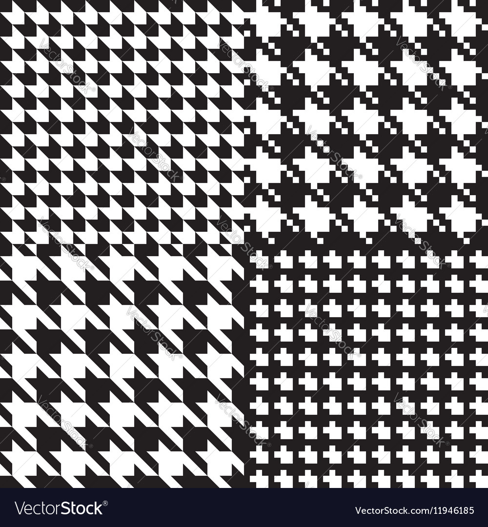 Houndstooth patterns set