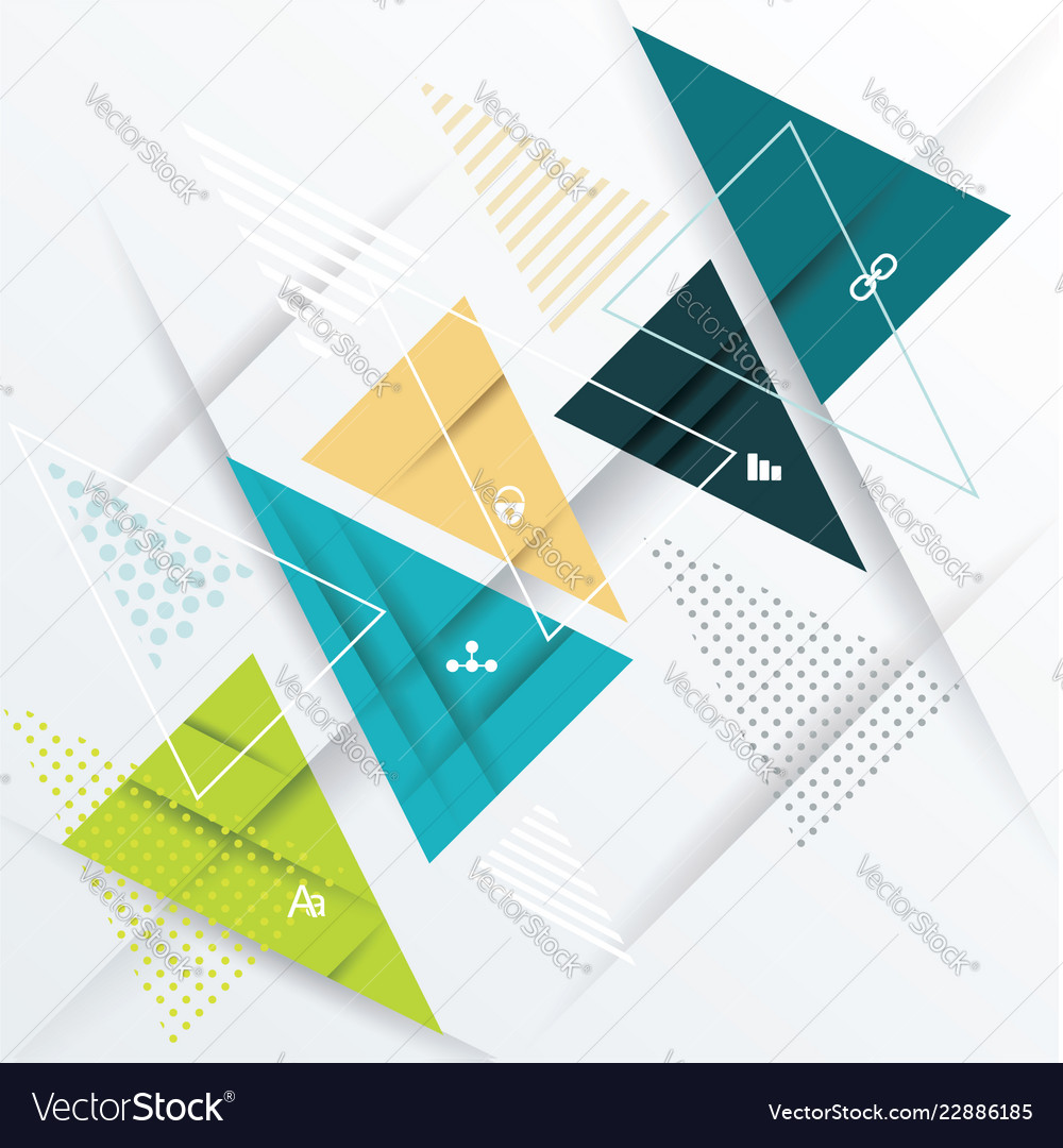 Modern design with paper triangles