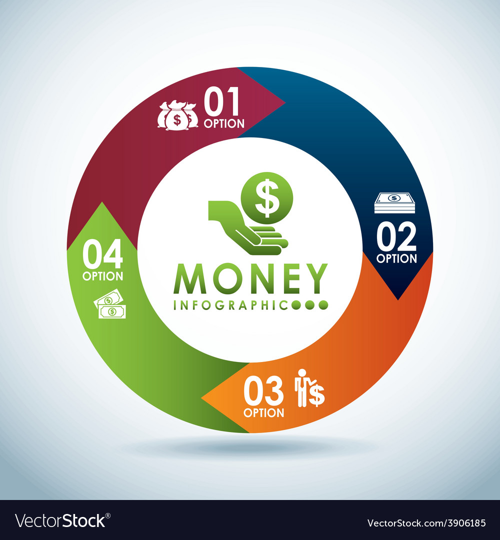 Money infographics vector image