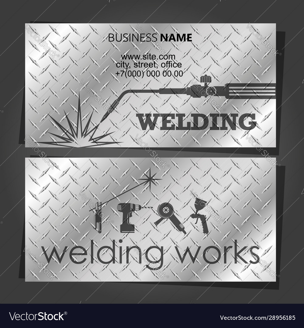 Welding Business Card For Welders Royalty Free Vector Image