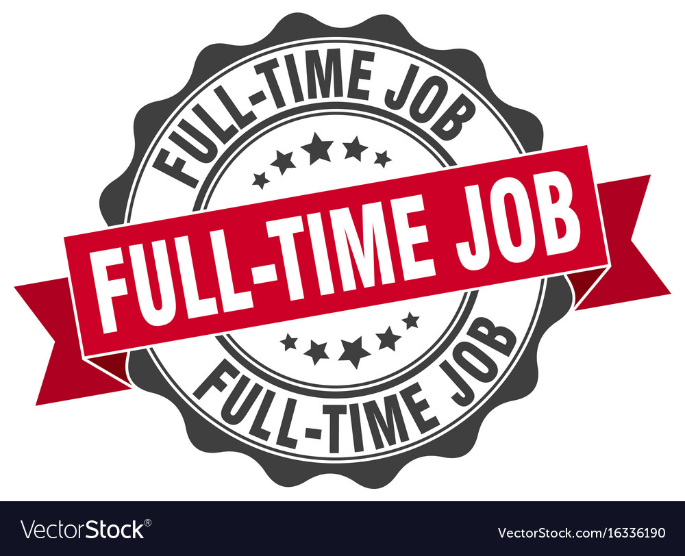 Full-time job stamp sign seal