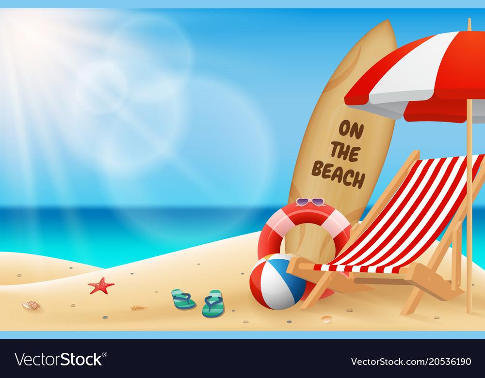 Seascape horizontal background turquoise sea
