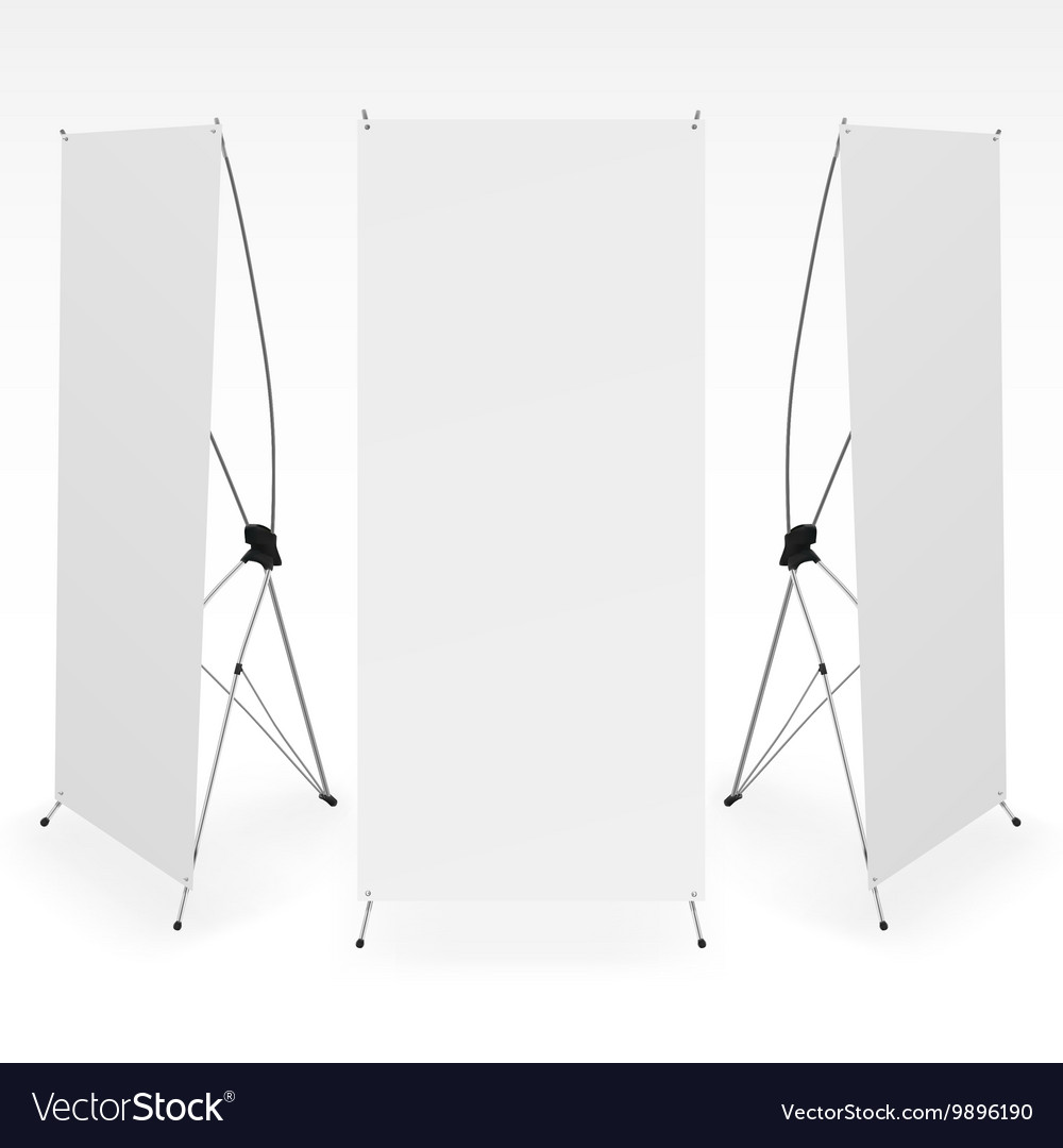 Set of blank X-stand banners display template
