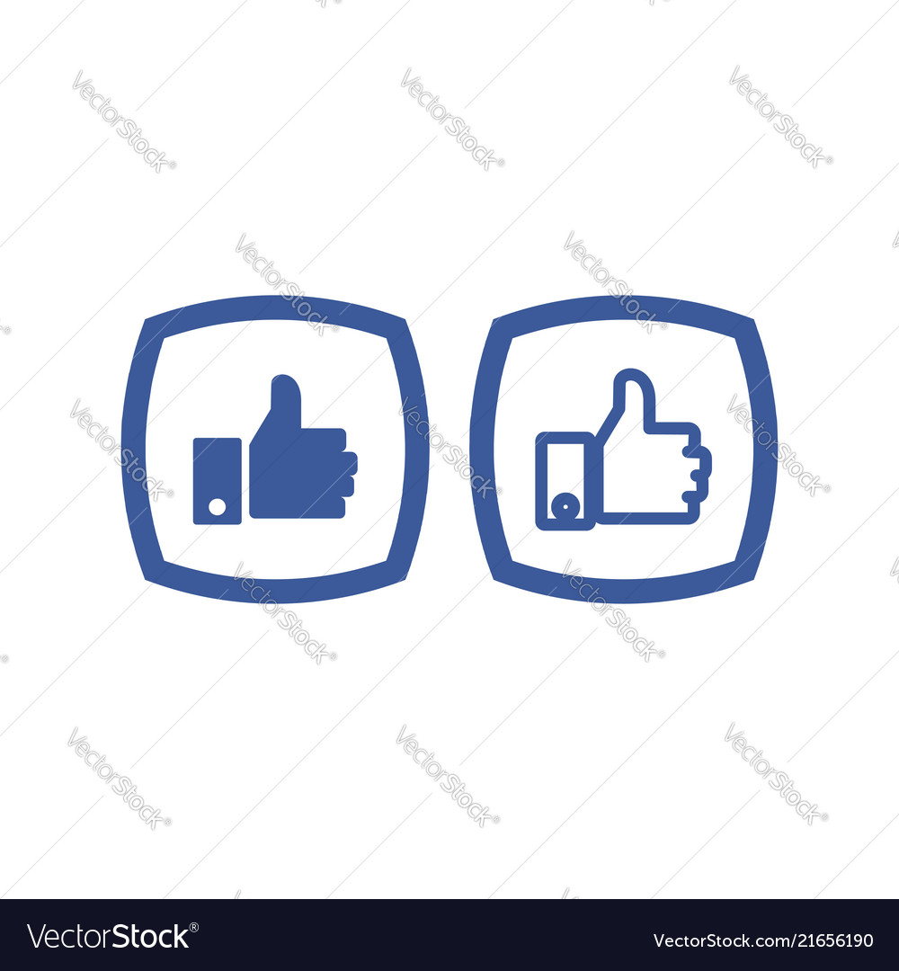 Thumb up icon button