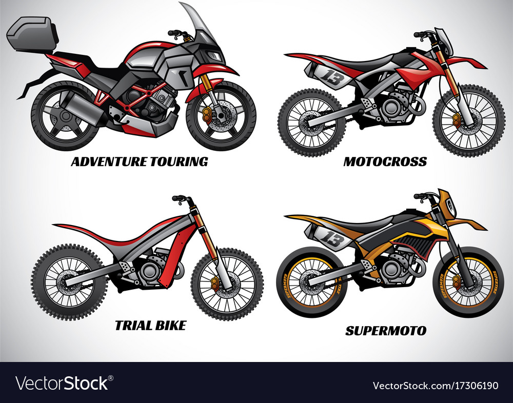 Types of motorcycle part 2 vector image