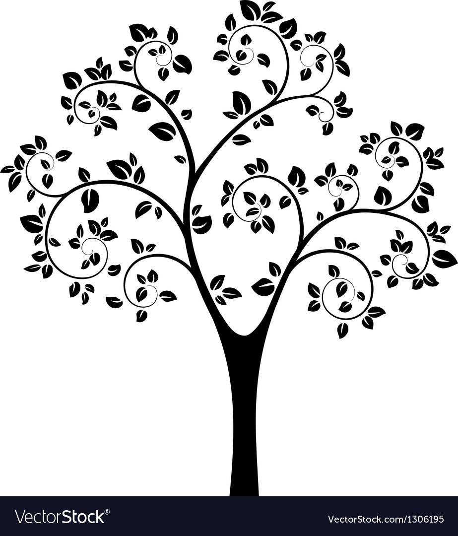 black tree royalty free vector image vectorstock