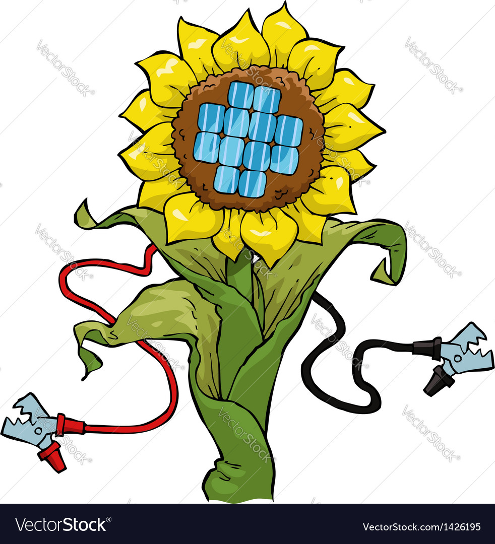 Eco electricity vector image
