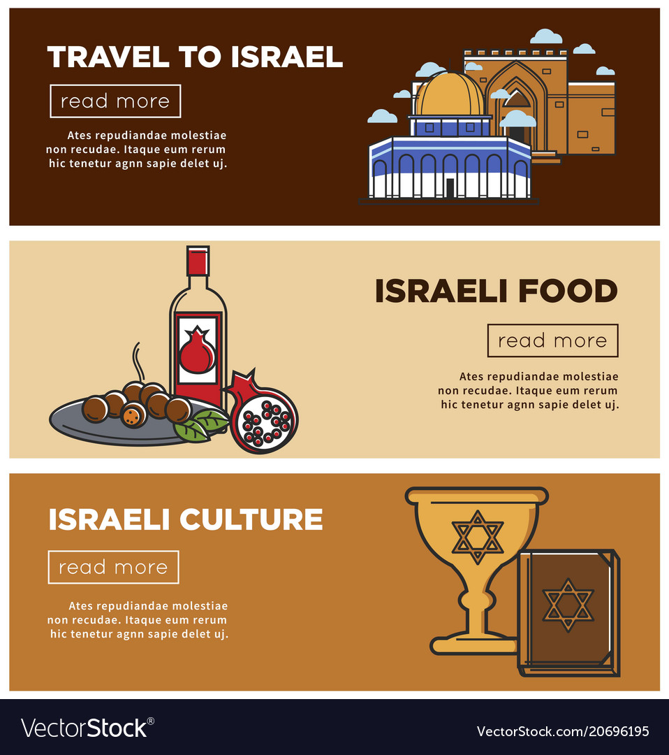 Israeli food and culture promo internet banners