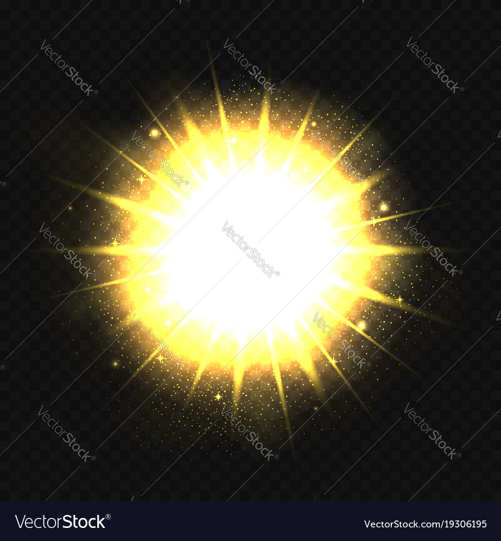 Powerful bright explosion