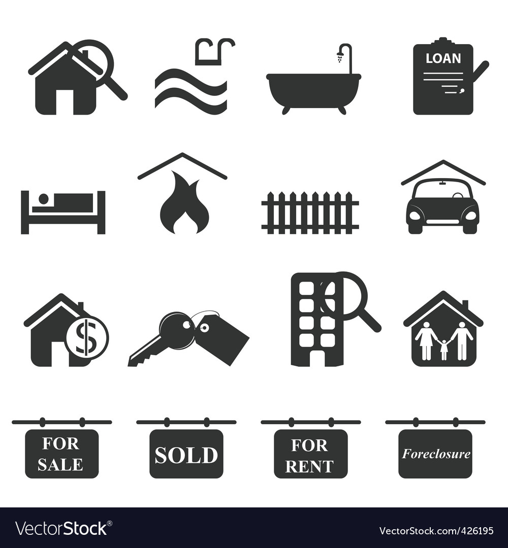Real-estate icons vector art - Download Brand vectors - 426195