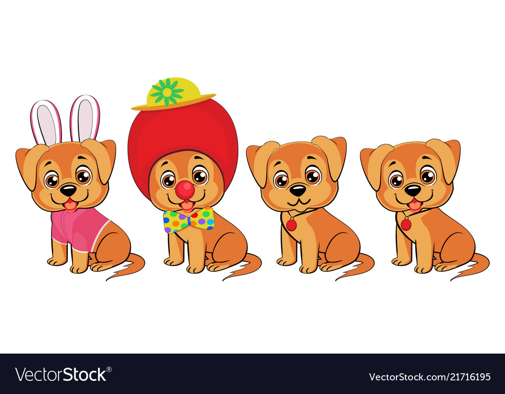 Set of little dogs