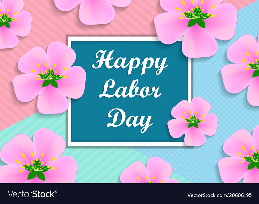 With text - happy labor day