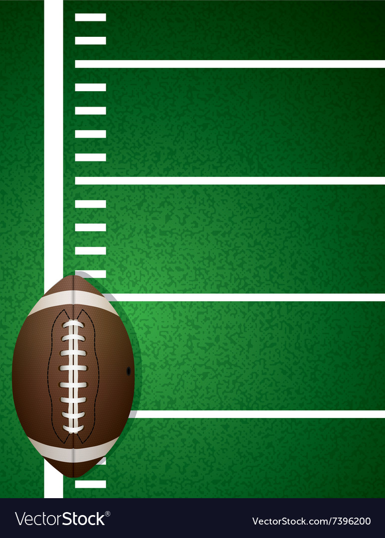 American Football Field and Ball vector image