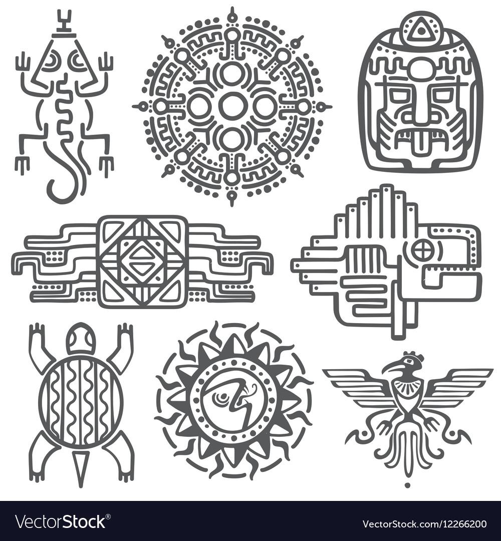 Ancient mexican mythology symbols american
