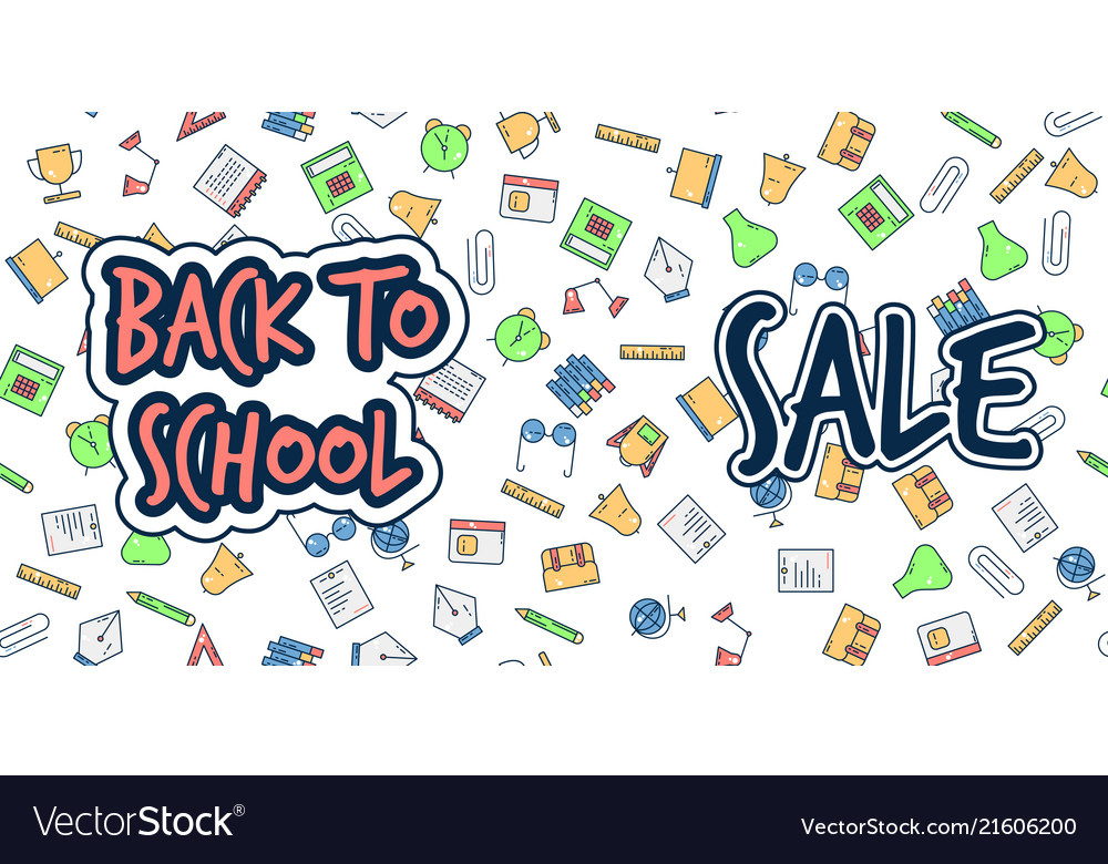 Back to school banner sale background