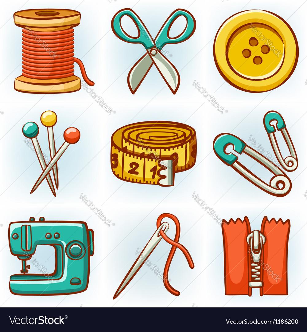 Sewing set vector image