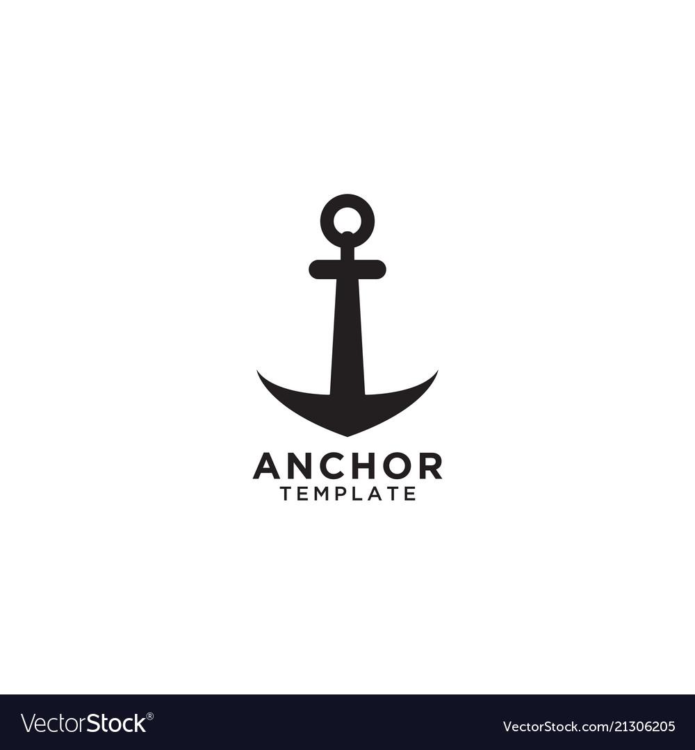 Anchor logo design template