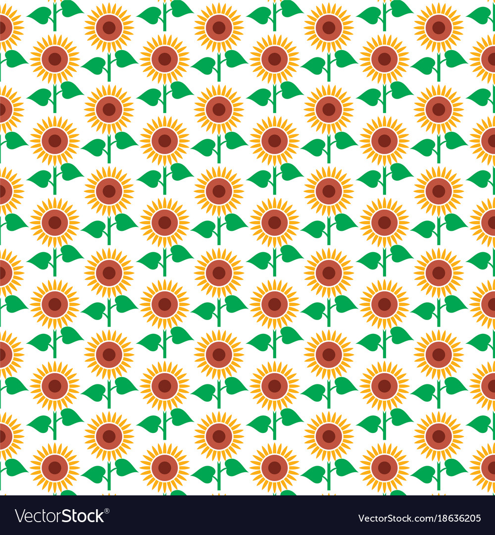 Background pattern with sunflower