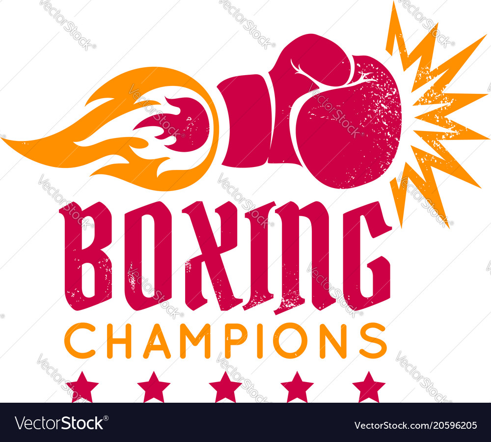 Boxing glove with flame