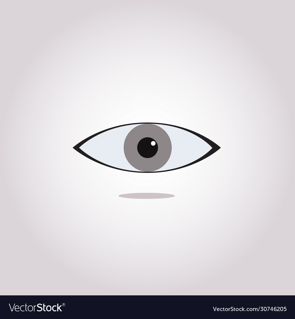 Eye Icon Simple Black Eye Sign In Flat Style Vector Image
