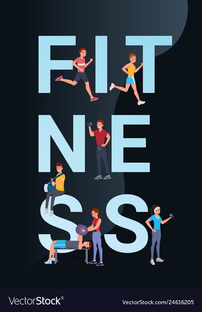 Fitness vertical banner