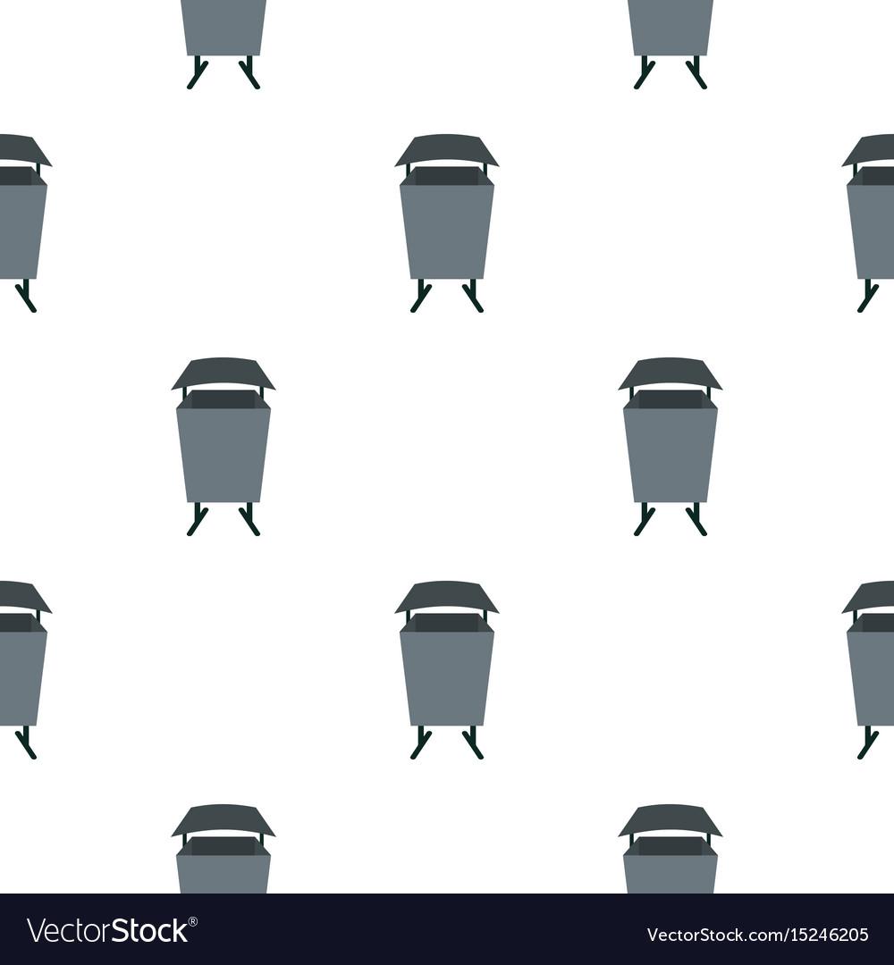 Metal rubbish bin pattern seamless
