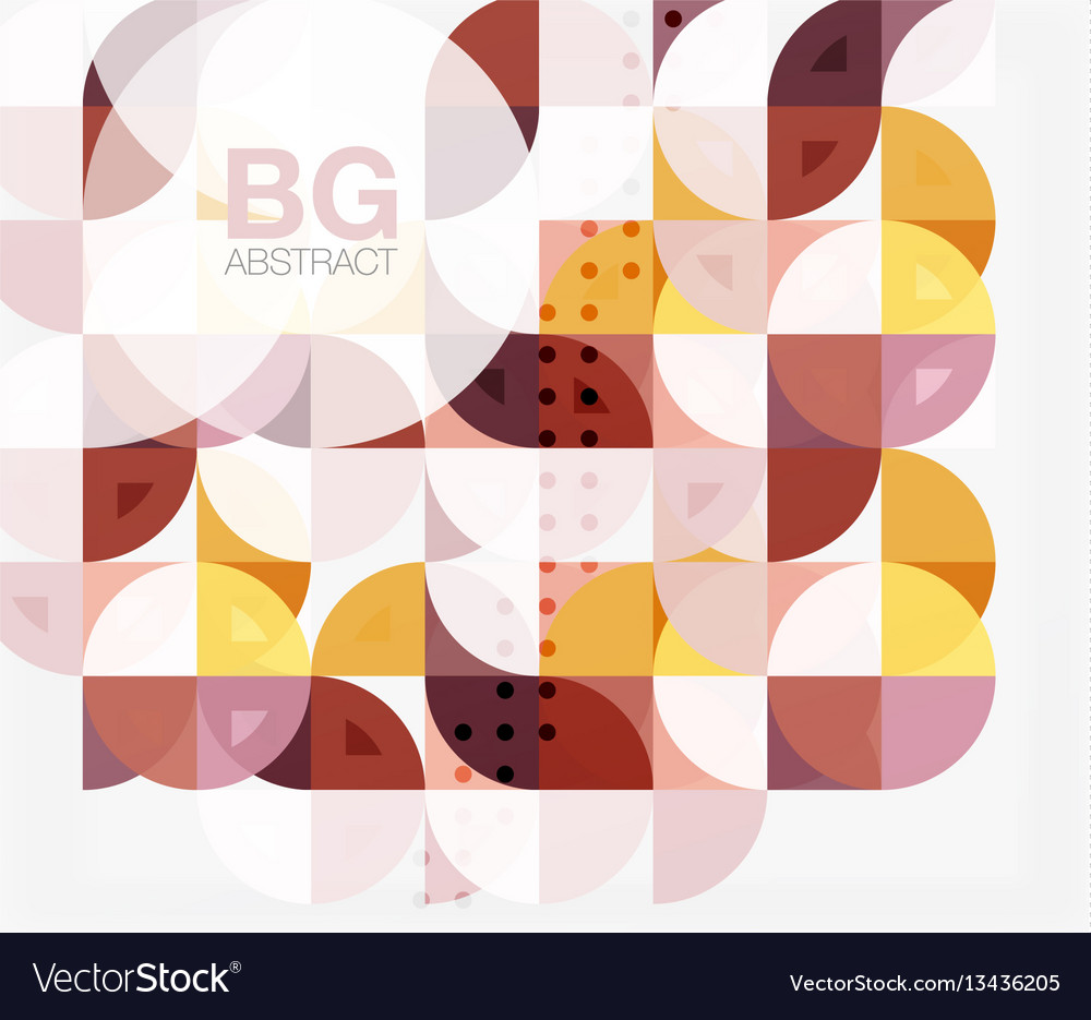 Modern geometric circle abstract background