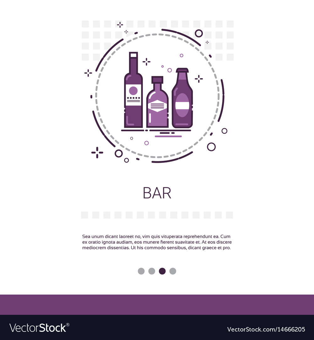 Restaurant bar alcohol drink service banner with