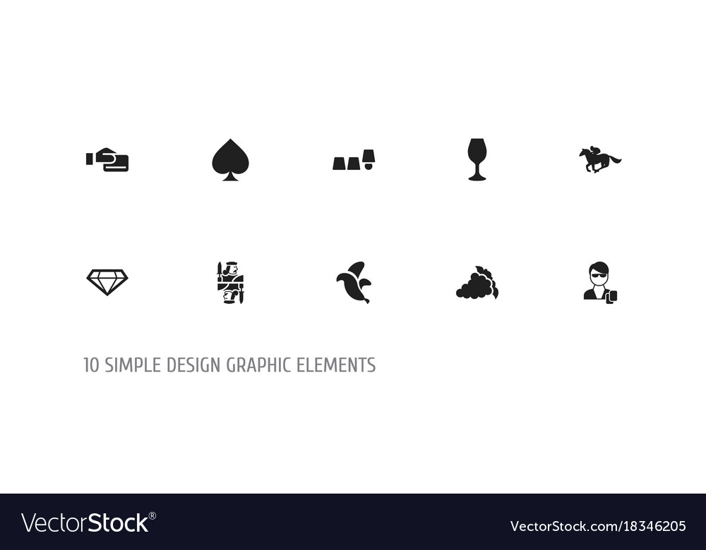 Set of 10 editable casino icons includes symbols vector image
