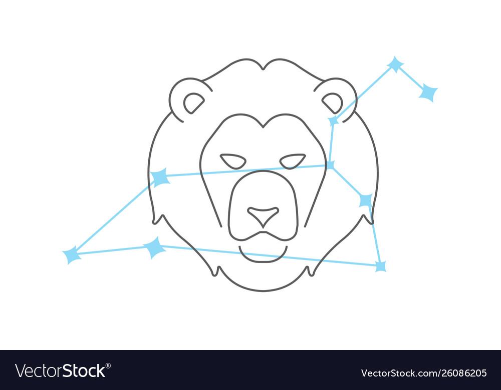 Zodiac signs leo line icon simple element