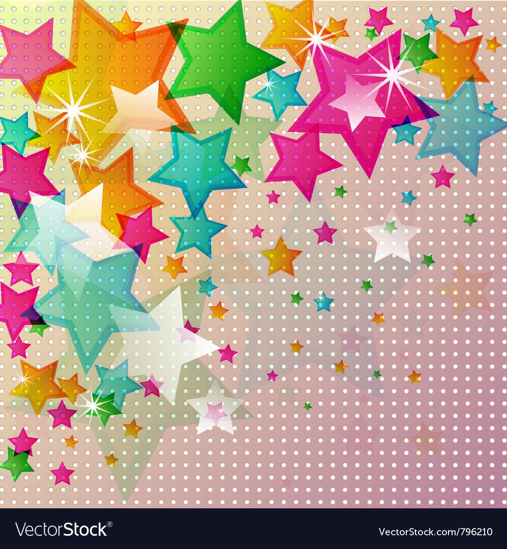Abstract star background vector image