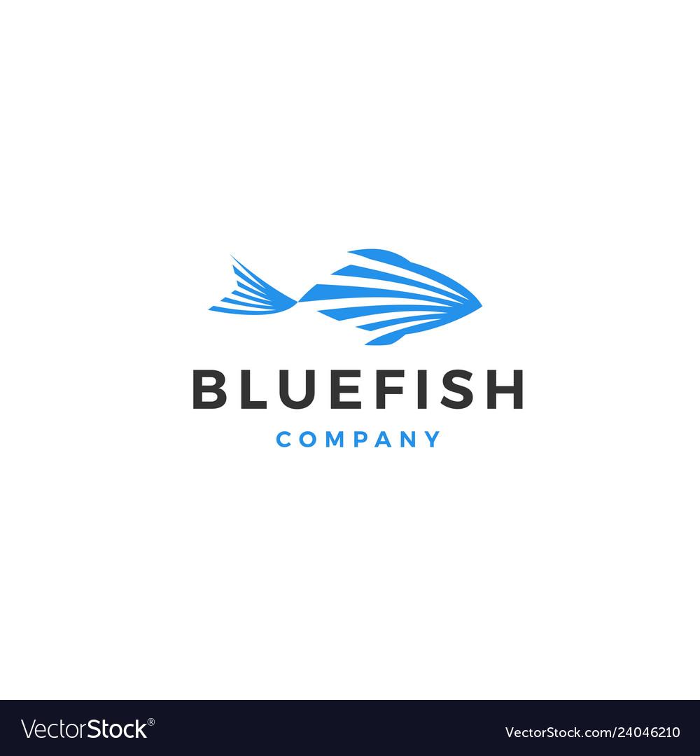 Blue fish logo icon